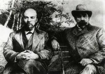 В.И. Ленин и Г.В. Плеханов в 1895 году