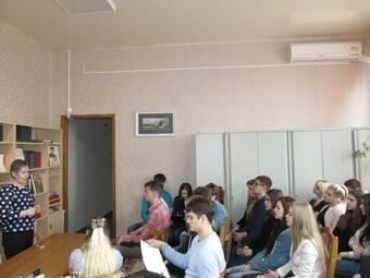 Встреча учащихся Липецкого Государственного Технического Университета с Пешковой Натальей Васильевной